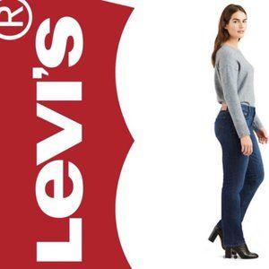Levi's 505 Straight Leg Dark Wash Jeans 14